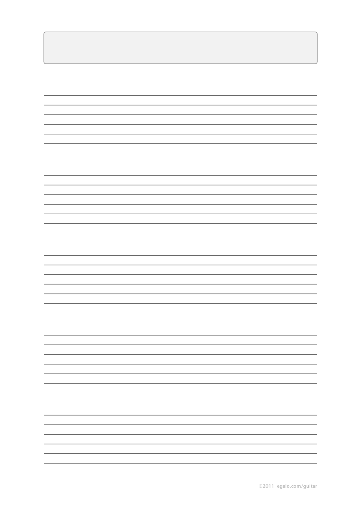 Blank Guitar Tab Sheets PDF